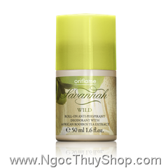Thanh lăn Oriflame Savannah Wild Roll-on Anti perspirant Deodorant (18982)