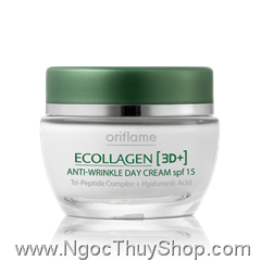 Kem hạn chế nếp nhăn Oriflame Ecollagen [3D+] Anti-Wrinkle Day Cream SPF 15 (20196)