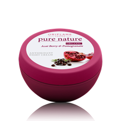 Oriflame 21574 - Kem dưỡng da ban đêm Pure Nature Organic Acai & Pomegranate Antioxidant Night Cream (21574)