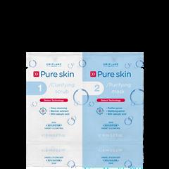 Oriflame 22418 - Bộ trị mụn Pure Skin 1 Clarifying Scrub 2 Purifying Mask (22418 Oriflame)